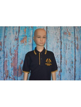 PORT FAIRY CONSOLIDATED SCHOOL  NAVY/GOLD CONTRAST POLO SHORT SLEEVE - UNISEX