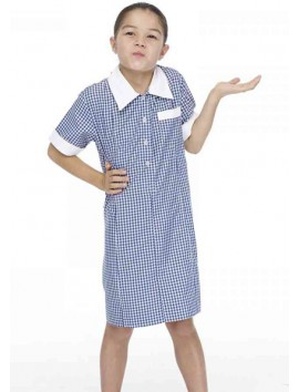 Hawkesdale College P12 PRIMARY  WHITE/ROYAL CHECK DRESS