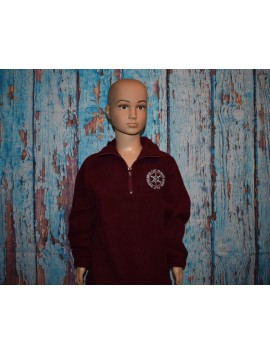 WARRNAMBOOL EAST PRIMARY SCHOOL 1/2 ZIP POLAR FLEECE JUMPER WITH LOGO